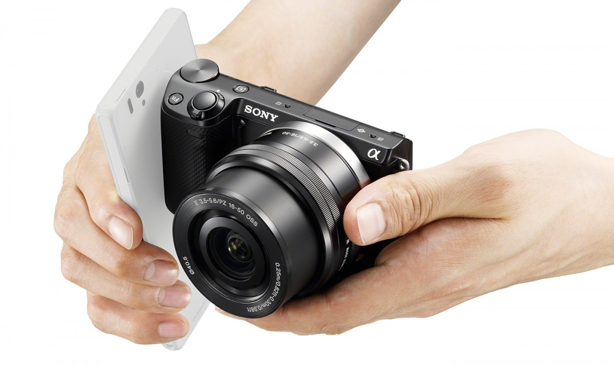SONY Fotoğraf makineler ile NFC teknolojisi kullanarak Akıllı telefonlara fotoğraf aktarımı.